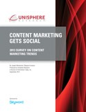 CONTENT MARKETING GETS SOCIAL: 2013 Survey on Content Marketing Trends
