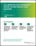 Collaborative Data Governance: Peeling the Red Tape off data Discovery