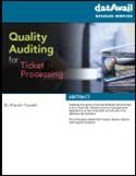 Quality Auditing for Ticket Processing