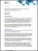 IDC White Paper: Affordable, Scalable, Reliable OLTP in a Cloud and Big Data World: IBM DB2 PureScale