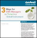 3 Ways for DBA Managers to Thrive in a Global Environment