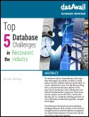 Top 5 Database Challenges in the Restauraunt Industry