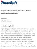 Enterprise Software Licensing in the World of Cloud Subscription Business Models