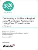 Developing a Bimodal Logical Data Warehouse Architecture Using Data Virtualization