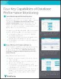 Four Key Capabilities of Database Performance Monitoring