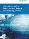 Cloud Integration Strategy: Three Questions You MUST Consider When Deciding Between Build or Buy