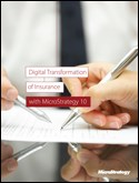 Digital Transformationwith MicroStrategy 10 of Insurance