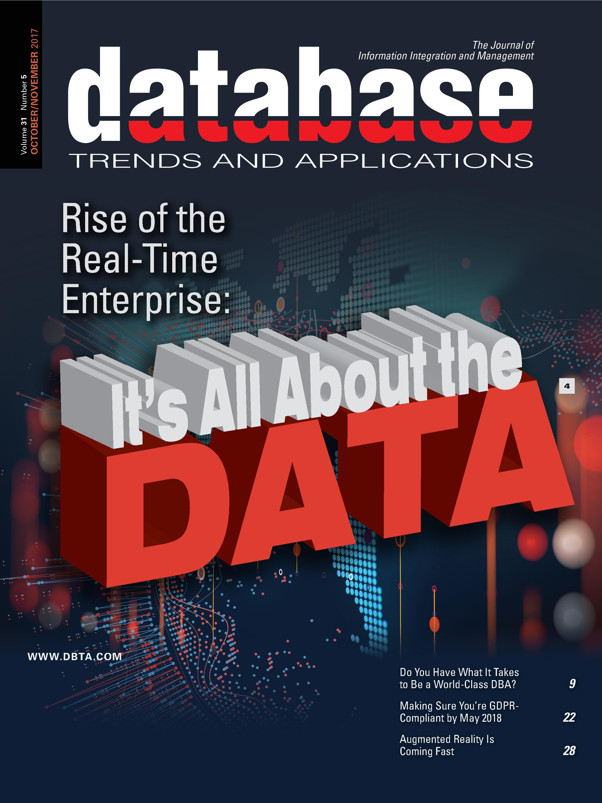 Database Trends and Applications Magazine: Oct/Nov 2017