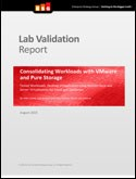 Consolidated Workloads with VMWare and Pure Storage - ESG analyst report