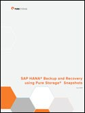 SAP HANA  Backup and Recovery using Pure Storage  Snapshots
