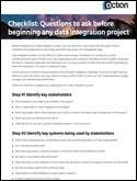 Checklist to Implement Your Integration Projects
