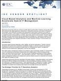 Cloud-Based Analytics and Machine Learning Accelerate Hybrid IT Management
